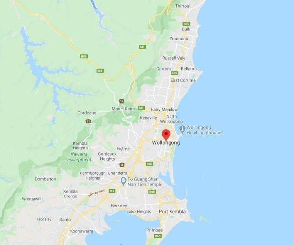 wollongong in google map